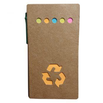 Eko beležka z eko kemičnim svinčnikom in označevalci BRINCELJ – 00294
