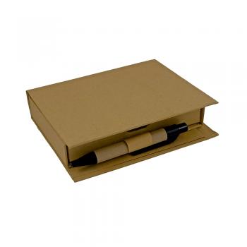 Eko memo kocka VITRANC z eko svinčnikom, listki, eko označevalci ter samolepilnimi lističi – 00289