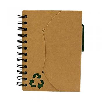 Eko beležka BEDANEC z eko kemičnim svinčnikom in označevalci- 00293