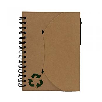 Eko beležka VOLKEC z eko kemičnim svinčnikom – 00386