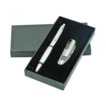 Set s kemičnim svinčnikom in multifunkcijskim nožem – 00407