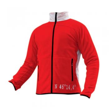 Moška jakna flis – RDEČE BELA – 00807