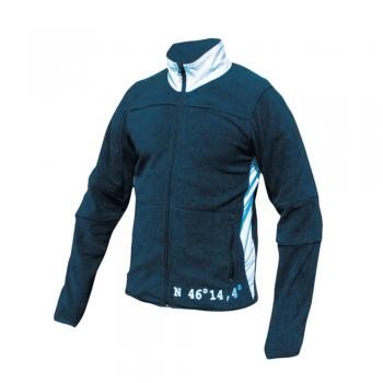 Moška jakna flis – TEMNO MODRA/BELA -00807