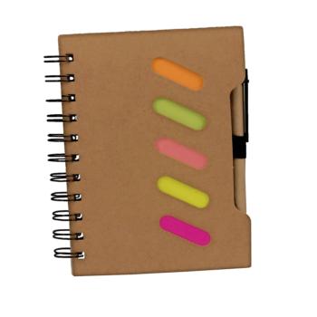 Eko beležka Rožle z označevalci in eko kemičnim svinčnikom – 00292