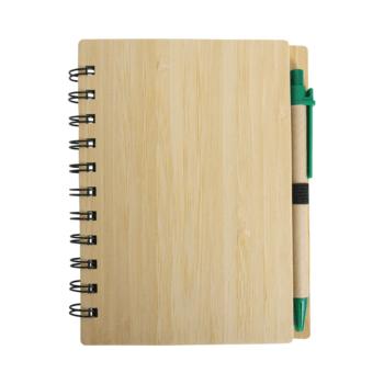 Lesena eko beležka z označevalci in svinčnikom – PALMA – 00389 RAZPRODANO!