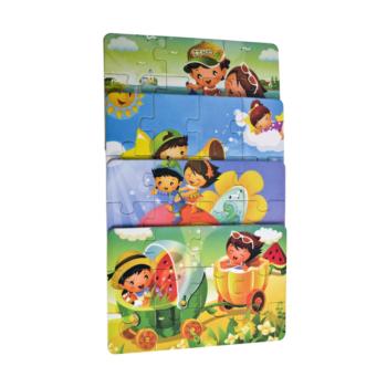 Lesene otroške puzzle (4kos v setu) EKO – 00439