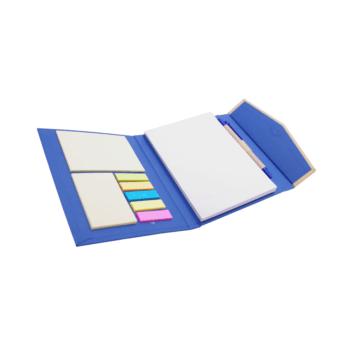 Eko mapa AKTIV z zapiranjem na magnet, eko kemičnim svinčnikom, beležnico, označevalci – post listki in samolepilnimi lističi – 00454