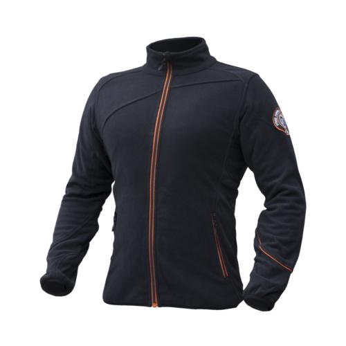 Moška črna flis jakna
