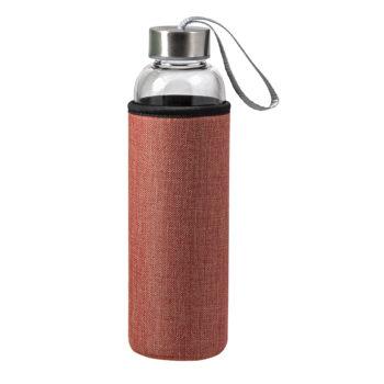 00459-HIGH GRADE borosilikatna steklenica v neoprenu z juto:  volumen: 550 ml/teža: 275g (eko)