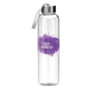 00461-Poslikana HIGH GRADE borosilikatna steklenica za vodo: Volumen: 550 ml/teža: 275g