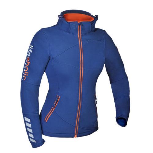 Ženska modra softshell jakna