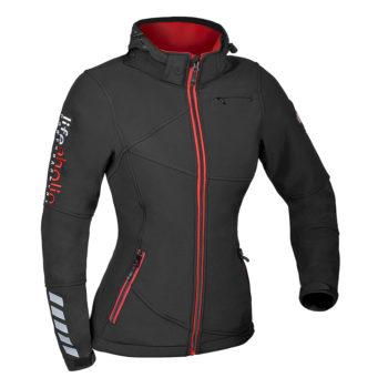 Ženska črna softshell jakna