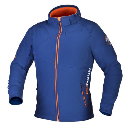 Moška modra softshell jakna