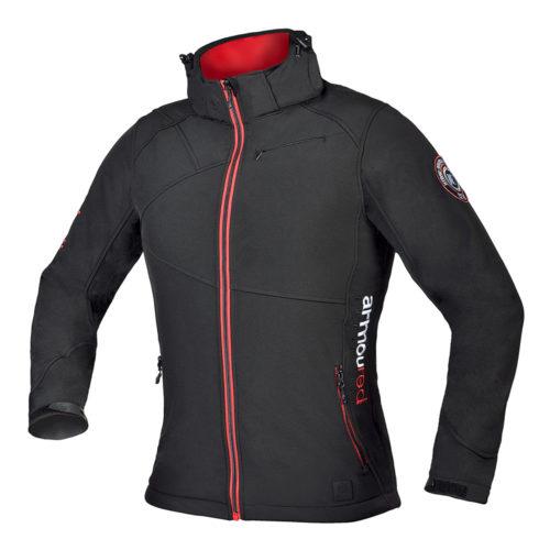 Moška črna softshell jakna