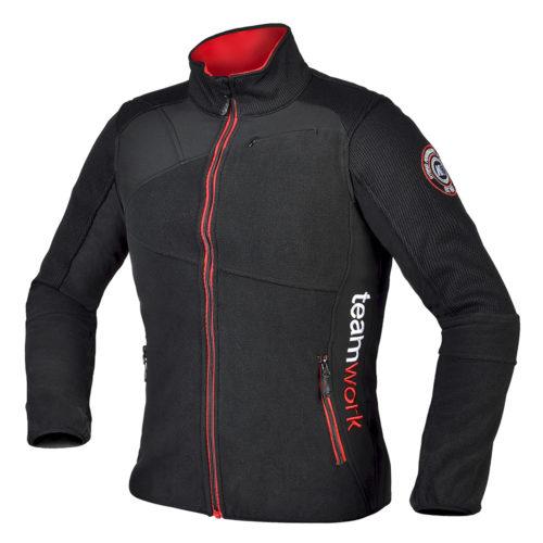 Moška črna hybrid jakna