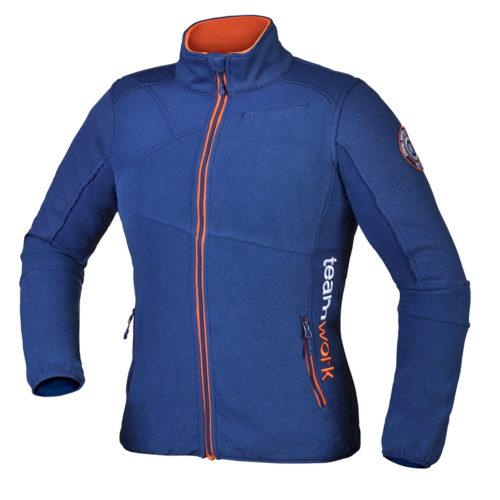 Moška modra hybrid jakna