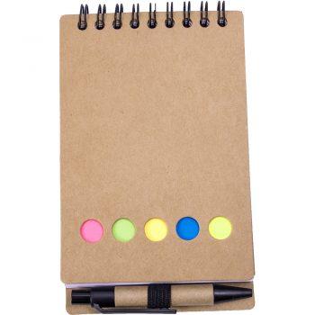 Eko beležka SEKVOJA z eko kemičnim svinčnikom in označevalci- 00565