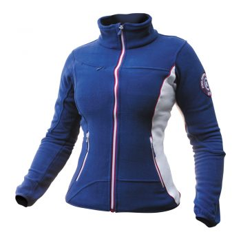 Ženska flis jakna modro-rdeča-bela – 00833