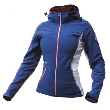 Ženska softshell jakna modro-rdeče-bela – 00842