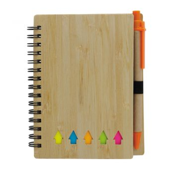 Lesena eko beležka z označevalci in svinčnikom – TISA – 00390