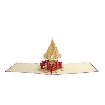 EKO darilo 3D papirna VOŠČILNICA v pozlačeni papirni kuverti in zaščitnem PVC etuiju – 00998
